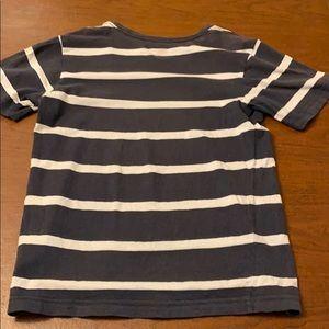 White striped navy blue shirt